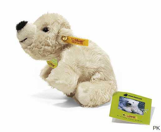 mit Schlüsselanhänger Kuscheltier WWF Plüschtier Eisbärmutter mit Baby 32cm