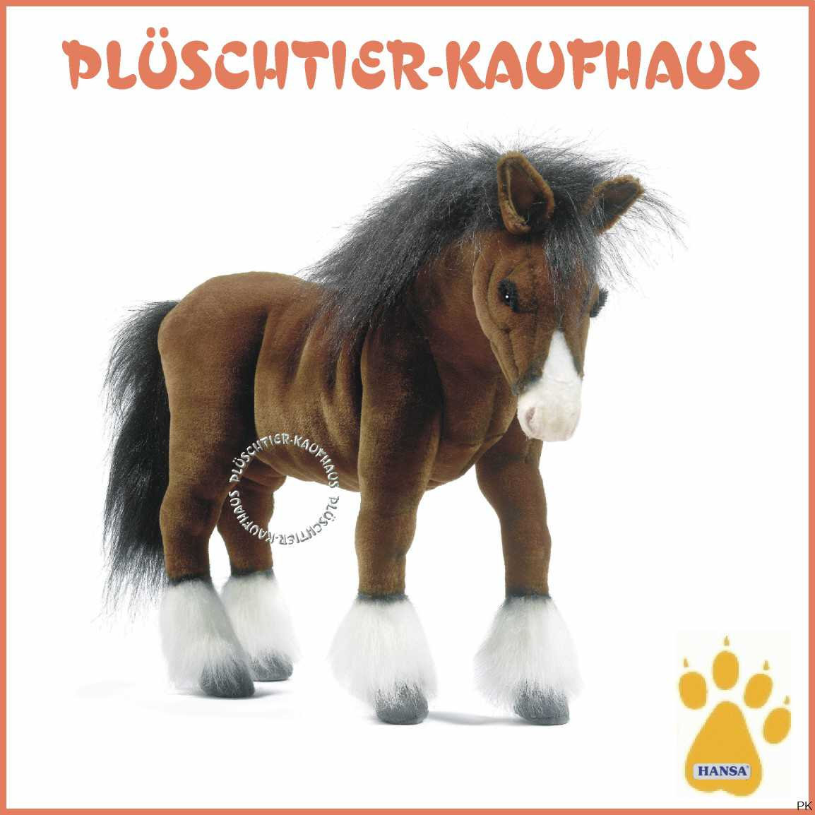 kuscheltier pferd clydesdale. Black Bedroom Furniture Sets. Home Design Ideas