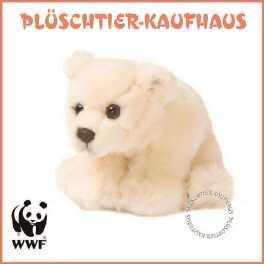 mit Schlüsselanhänger Kuscheltier 32cm WWF Plüschtier Eisbärmutter mit Baby