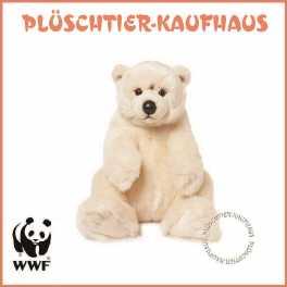 WWF Plüschtier Eisbär mit Eisbär-Schlüsselanhänger Kuscheltier NEU 47cm